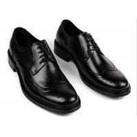 Engrave Fashion Brown Leather Brogue Shoes , Spring / Autumn Formal Shoes With Laces