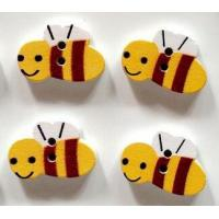 Buy cheap Wholesale Colorful Bee Shaped DIY Wooden Buttons for decoration from wholesalers