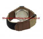 Buy cheap Guaranteed quality nylon webbing/PU leather nylon Velcro hook loop watch wrist band from wholesalers