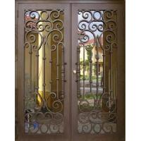 Buy cheap Wrought iron entrance door from wholesalers