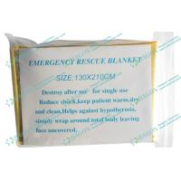 Buy cheap Golden First Aid Products / Aluminum Foil Mylar Emergency Blanket from wholesalers