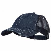 Buy cheap Special Cotton Mens Trucker Caps , Denim Low Profile Cool Trucker Hats For Men from wholesalers