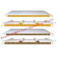 Quality 950mm Width Fire Resistant Mineral Wool Sandwich Wall Panels Durability and Long Life Time for sale