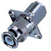 Buy cheap RG58 / 59 / 6U Cable Zinc /  Copper Material  BNC Male Crimp  Panel Connector from wholesalers