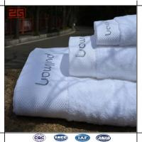 Buy cheap 16S Single Loop Hotel Bath Towels With Jacquard / Emboidery Logo from wholesalers