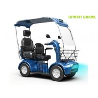 Buy cheap Handicapped Electric Mobility Scooter 48V 20Ah Double Seats 130Kgs Steel from wholesalers