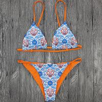 Buy cheap Wholesale and Retail 2018 Women Sexy Print Triangle Swimsuit product
