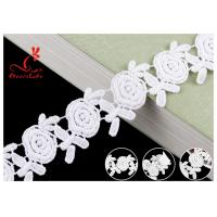 Buy cheap Embroidered Flower Guipure White Cotton Lace Ribbon For Fashion Clothes product