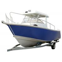 Buy cheap 5.8m Steering Console Aluminum Fishing Boats Durable With Gasoline Fuel Type from wholesalers