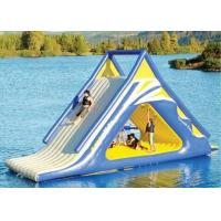 Buy cheap giant kids N adults inflatable floating slide for outdoor water game use in the lake from wholesalers