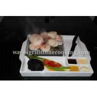 Buy cheap Ceramic steak stone cooking meat on a hot rock lava stone from wholesalers