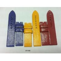 China 16mm 18mm 20mm 22mm Stingray Leather Watchband Blue, Red, Yellow, Custom Watch Band Strap on sale