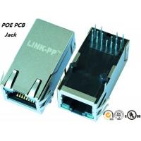 Buy cheap LED Shileded POE RJ45 PCB Jack XFVOIP5E-C1-4MS Side Entry from wholesalers