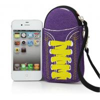 Buy cheap special shoes design soft mobile neoprene phone pouch bag with wrist strap to take product