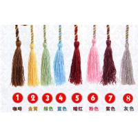 Buy cheap 9cm polyester tassel with cord for curtain garments polyester Handmade decoration tassel, from wholesalers