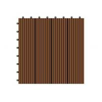 Buy cheap WX01 WPC Eco-friendly and durable interlocking outdoor and indoors flooring tiles from wholesalers