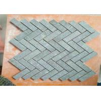 Buy cheap Kitchen Natural Stone Floor Tiles , Marble Herringbone Mosaic Tile 1 X 3 Chip Size from wholesalers
