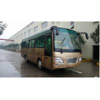 Buy cheap Professional 27 Seater Minibus Double Doors With Pure Gas 90 Liter Wide Body from wholesalers