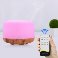Buy cheap 500ml Wooden Grain 24V Ultrasonic Remote Control Aroma Diffuser from wholesalers