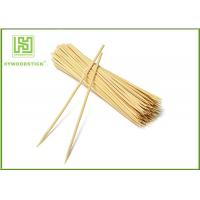 Slim Bamboo Canape Sticks , Healthy Wooden Shish Kabob Sticks Kitchen Skewers