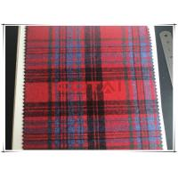 Buy cheap One Sided Flannel Red Plaid / Tartan Wool Fabric for Autumn / Spring Apparel from wholesalers