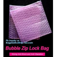 Buy cheap reusable air bubble stationery packaging bags envelope shock proof bag with slider zip lock for fragile articles, zip from wholesalers