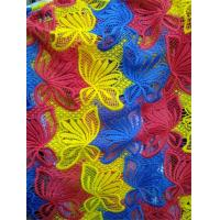 Customized Factory supply Colorful embroidery polyster lace fabrics