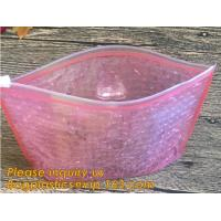 Buy cheap Holographic Zipper Slider Zip Lock Bubble Bag,Cosmetic Zipper Bag/Rose Gold Slider Bubble Bag with Logo,Slider Bubble Zi from wholesalers