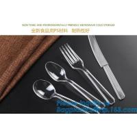 Buy cheap Disposable Flatware Set-Heavyweight Plastic Cutlery 100 Forks, 100 Spoons, 100 Knives,PP Disposable Plastic Cutlery ps from wholesalers