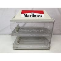 Buy cheap Vintage Acrylic Marlboro Cigarette Display Case Transparent Polished 2 - Layered from wholesalers