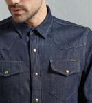 Buy cheap High quality casual man blue jean shirts men collar stylish jean shirt fashion custom shirt for man from wholesalers