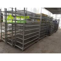Buy cheap Greenhouse Mesh Wire Plant CC Container Flower Display Trolley Electric from wholesalers