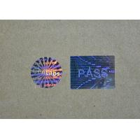 Buy cheap Laser Hologram Printed Holographic Security Stickers / Shiny Sticker Labels Roll from wholesalers