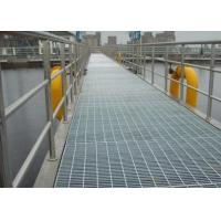 Buy cheap Galvanized Bar Grating Mesh , Industrial Floor Grates For Platform / Parking Lot product