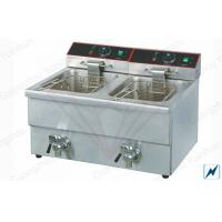 Buy cheap Outdoor Electric Deep Fryer Commercial For Easy Clean , 3.25KW + 3.25KW from wholesalers