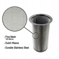 Buy cheap 18/8 Stainless Steel Cold Brew Coffee Maker Filter Cylinder 8.3cm Top Dia from wholesalers