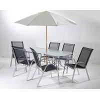 Buy cheap Outdoor Steel Folding Leisure Chairs / Textilene Chair With Table Set from wholesalers