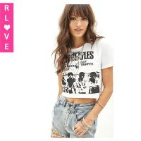 Buy cheap Europe new style Beatles printed retro female short-sleeved T-shirt round neck t shirt from wholesalers