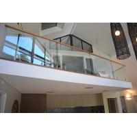 Buy cheap Popular design stainless steel spigot clear glass railing for balcony design product