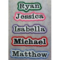 Buy cheap Personalized Embroidered Iron On Name Patch OEM service are welcome from wholesalers