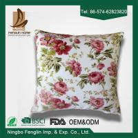 Buy cheap Home Decorative Pink Flower Printed PP Cotton / Foam Sofa Cushions Replacement from wholesalers