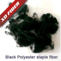 Buy cheap 1.5D*38MM  black recycled polyester staple fiber  for spinning ,nonwoven. from wholesalers