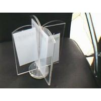 Buy cheap 3mm Four Sides Rotatable Acrylic Menu Holder , Restaurant Sign Holders product