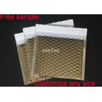 Buy cheap Gold Gloss Surface Metallic Bubble Mailers 6*10  Padded 2 Sealing Sides Anti Tremble from wholesalers