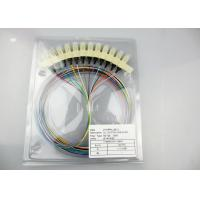 Buy cheap 12 Core Single Mode Fiber Optic Cable , FC SC LC 0.9mm Single Mode Fiber Pigtails from wholesalers