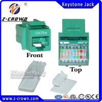 Buy cheap 568-A/ 568-B Wiring Compatible Cat5e/Cat6 Keystone Jack 90 /180 Degree product