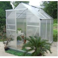 Buy cheap Silver / Green Durable Poly Compact Walk in Greenhouse With Powder Coated Metal Frame from wholesalers
