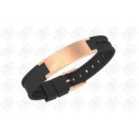 Buy cheap Rose Gold Brushed Stainless Steel Bracelets With Ionized Power Straps And Magnets from wholesalers