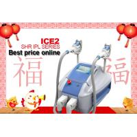 Buy cheap 2 Handpieces SHR IPL Machine Permanent Hair Removal , Portable  SHR IPL Permanent Laser Hair Remover from wholesalers