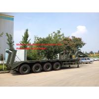 Buy cheap CIMC Green Color Heavy Load Lowbed Trailer With 4 Axles For 80 Tons Transport With Triangle Brand Tire from wholesalers